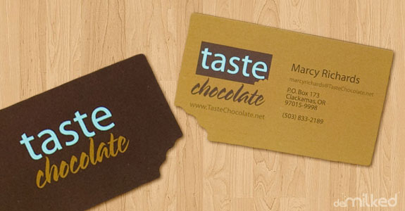 Filly design 20 clever and creative business card designs taste chocolate not the business card colourmoves