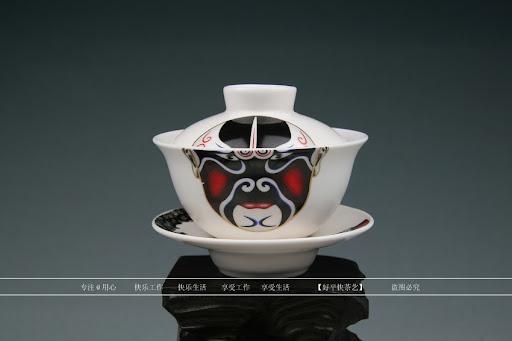 The famous Dehua Opera Masks Chinese tea set
