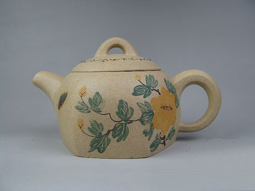 Your antique-looked Yixing flower and peom Chinese teapot