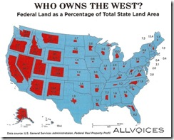 percentage of us land owned by govt