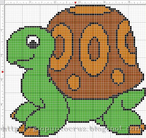 dos esquemas muy fáciles de hacer de animalitos los colores son sólo