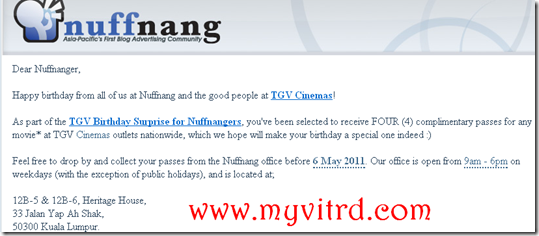 tgv birthday Surprise for nuffnangers