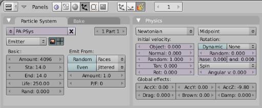 Configurando partículas do tipo Emitter