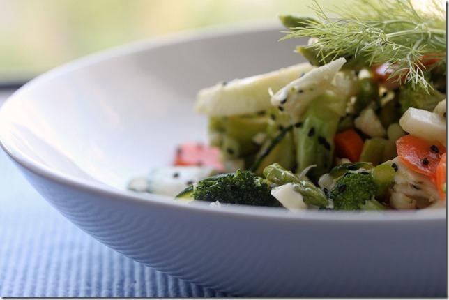 Σαλάτα με ωμά λαχανικά Raw vegetables salat