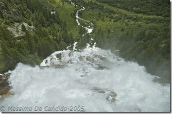 La cascata del Toce vista dal balconcino