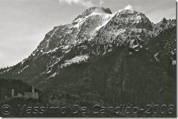 Castello Neuschwanstein visto da Schwangau