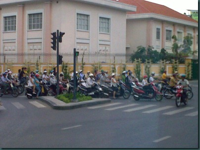 Streets of Saigon - mopeds