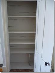 Dining room shelves, after
