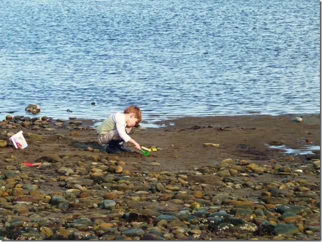 Reesie digging