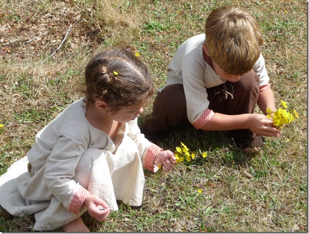 picking flowers together