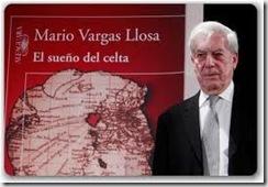 Vargas Llosa con la portada de El sueño del celta