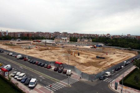CREAA , obras de construccion del centro de creacion de las artes de Alcorcon 2