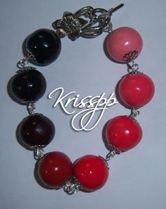 Pulsera bolas rojas
