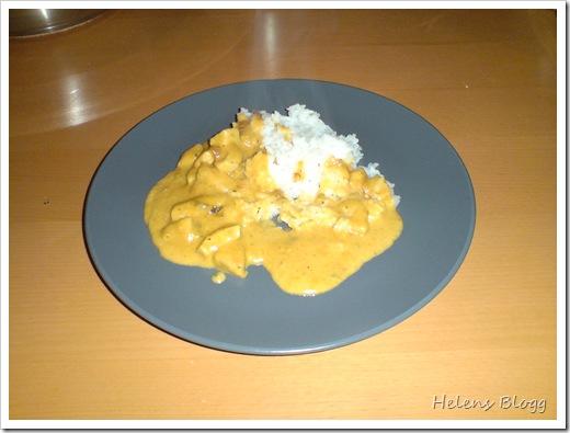 Kyckling curry med ris