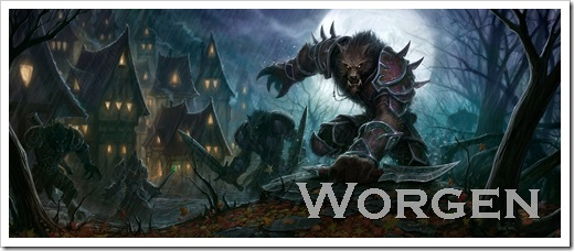 Blizzard World of Warcraft Cataclysm Worgen class