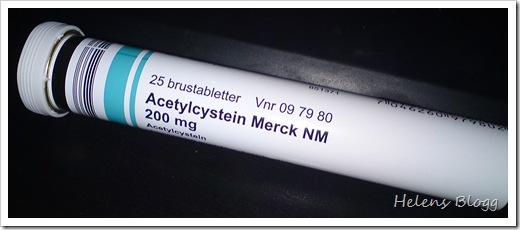 Acetylcystein, slemlösande brustabletter