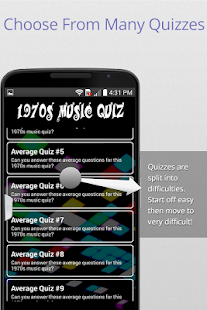 70's Music Trivia Quiz - screenshot