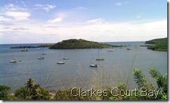 Overlooking Clarkes Court Bay to Hog Island (we were anchored near the bridge)