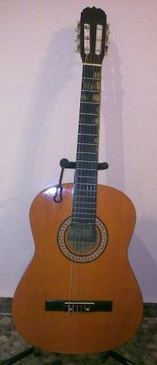 Vista frontal de la guitarra Sonora