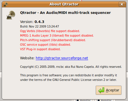 Qtractor 0.4.3