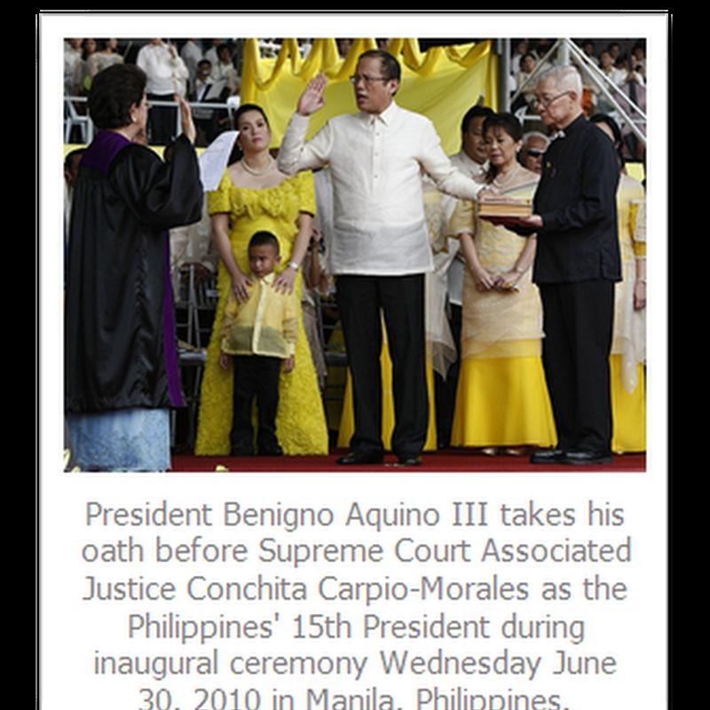 Inaugural Speech of President Benigno C. Aquino III