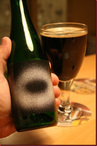 Mikkeller Black Hole in hand