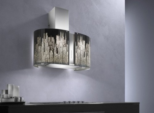 Italian Murano Lighting Collection for Island and Wall Range Hoods by Futuro Futuro