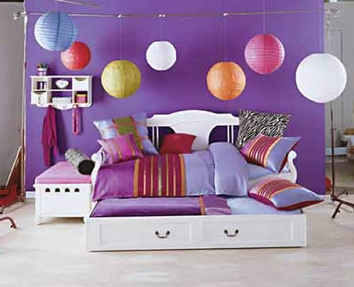 Funky and Small Colorful Bedroom Under $1000