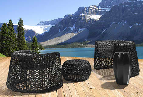 Elegant Black Lace Furniture from Seasonal Living