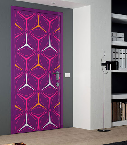 Door Designs With Punchy Colors and Fun Graphics
