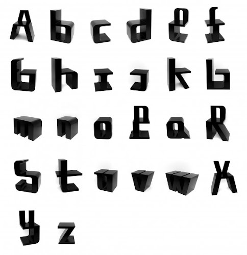 Typographic-Inspired Chairs   ABC Chairs