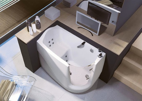 Space Saving Walk-In Bathtub   Gen-X by Treessee