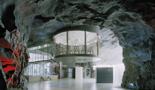 Stockholm Office Built in Old Bomb Shelter!