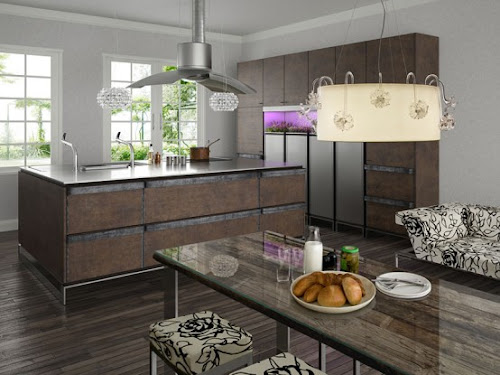 Contemporary Kitchen With Rustic Design by TOYO