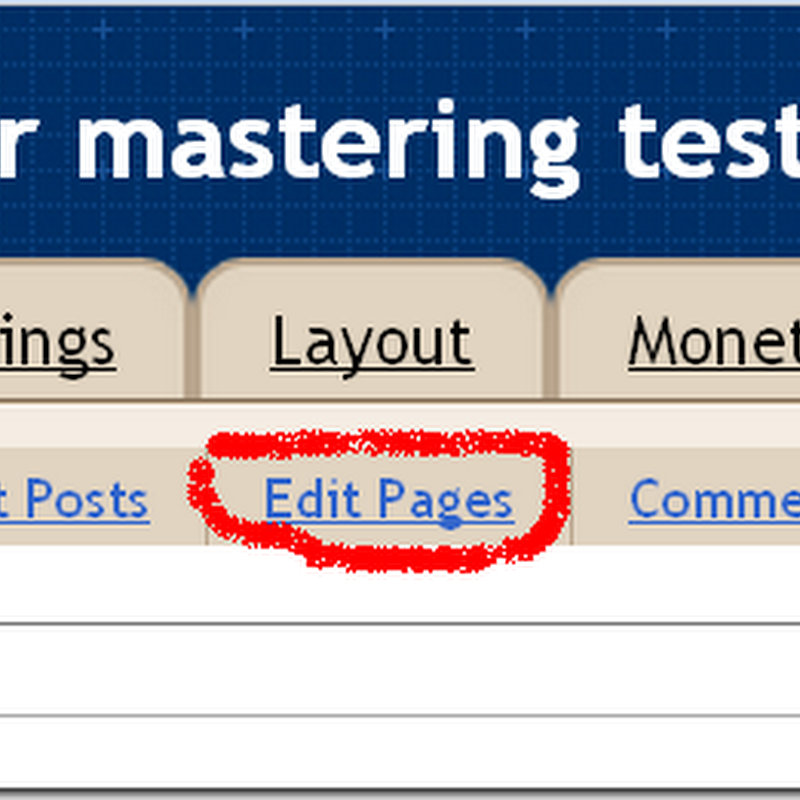 How to create a static page in a blogspot blog