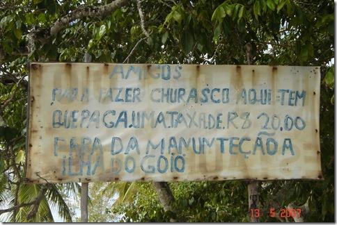 Placa Ilha do Goió