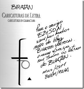 Biratan - Caricaturas de letra - Dedicatória