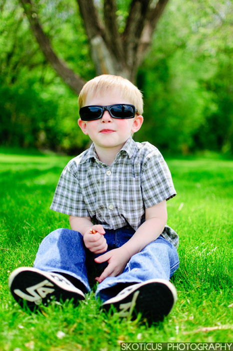 Boy with sunglasses Utah Family Photography