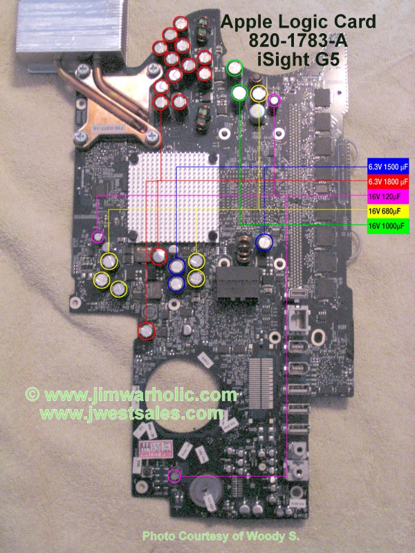 iSight G5 iMac Apple Logic Card 820-1783-a