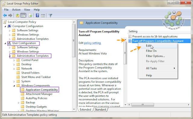 Program Compatibility Assistant ปิดซะอย่าให้มากวนใจ Pcad08