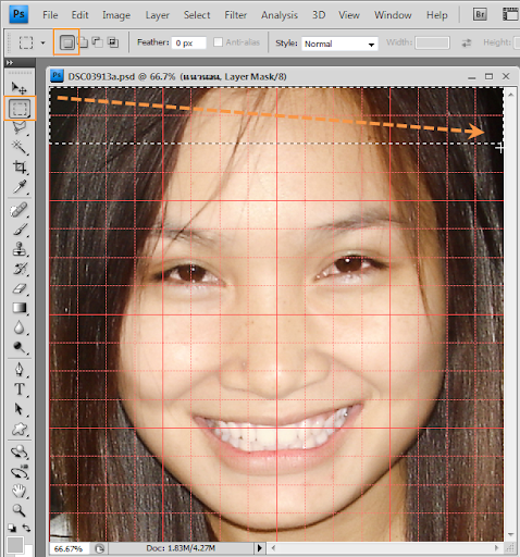 เทคนิคการทำภาพแบบ Interweaving Photo Strips [Photo Effect] JStrips07