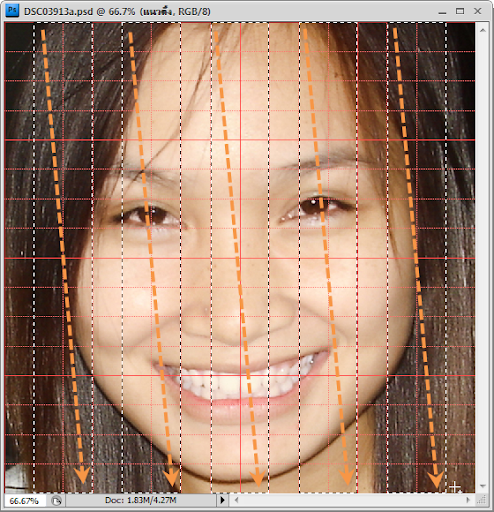 เทคนิคการทำภาพแบบ Interweaving Photo Strips [Photo Effect] JStrips10