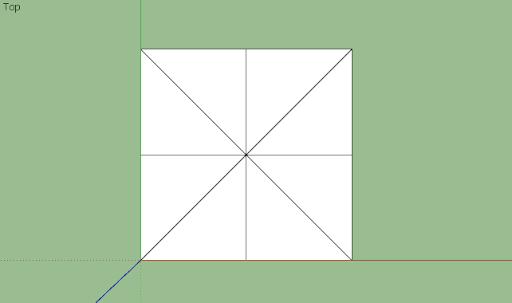 มหัศจรรย์รูปสี่เหลี่ยมกับ SketchUp Sq-03