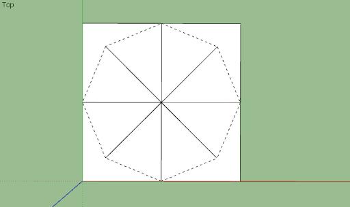 มหัศจรรย์รูปสี่เหลี่ยมกับ SketchUp Sq-08