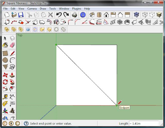มหัศจรรย์รูปสี่เหลี่ยมกับ SketchUp Sq-10