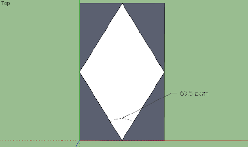 SketchUp - มหัศจรรย์รูปสี่เหลี่ยมกับ SketchUp Sq-22