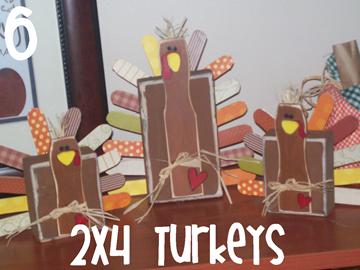 6 2x4 Turkeys