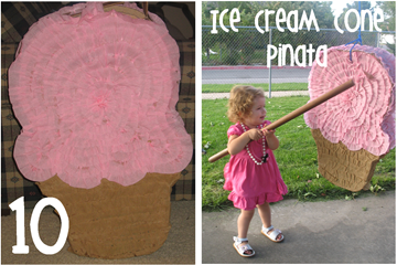 10 Ice Cream Cone Pinata