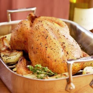Herb-Roasted Chicken with Chardonnay Sauce