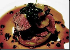 venison with blackberries